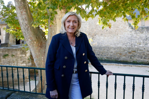 FRA: National Rally Party Leader Marine Le Pen Campaigns For France Presidential Elections