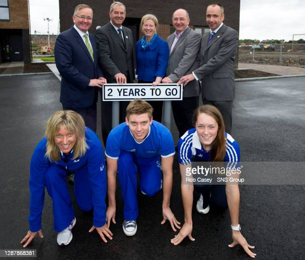 Leader of Glasgow City Council Gordon Matheson, Glasgow 2014 Chair Lord Smith, Minister for Commonwealth Games and Sport Shona Robison, Chairman...