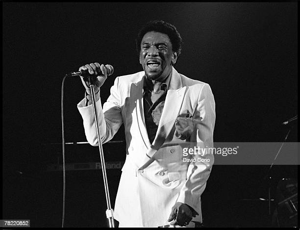 Leader of James Brown's vocal group Famous Flames Bobby Byrd performs onstage at the Town Country Club on July 20 1988 in London England