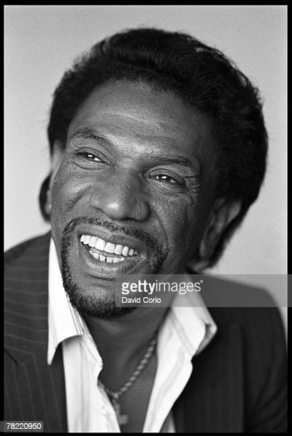 Leader of James Brown's vocal group Famous Flames Bobby Byrd poses for a portrait on July 16 1987 in London England