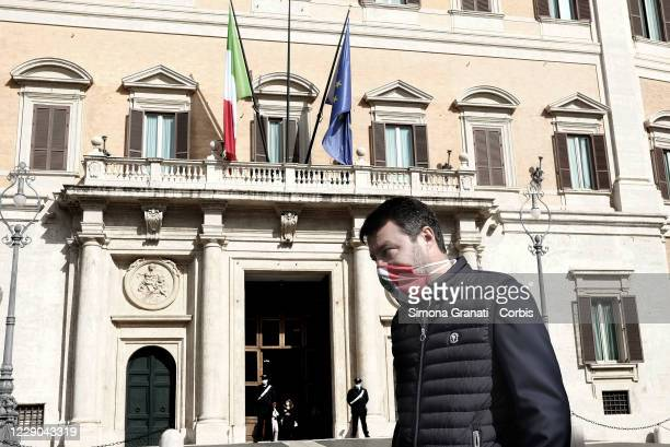 Leader of Lega party Matteo Salvini attends the Demonstration in front of the Chamber of Deputies at the imprisonment of Chico Forti in the United...