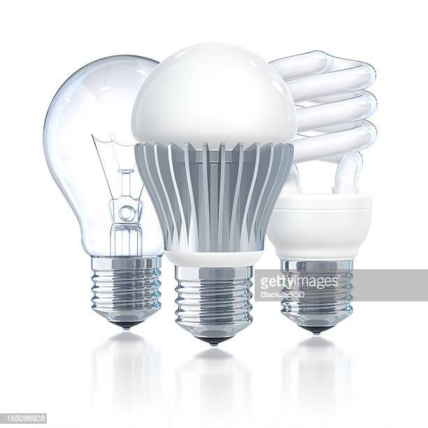 led leader of light bulbs - energy efficient lightbulb stock photos and pictures