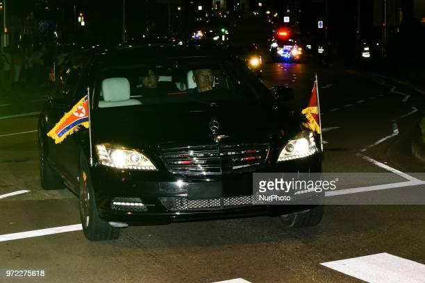 Leader of North Korea Kim Jong Un's motorcade departs the St Regis Singapore hotel on Tueday June 12 2018