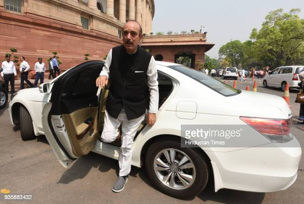 Leader of Opposition Ghulam Nabi Azad during the Budget Session of Parliament on March 21 2018 in New Delhi India