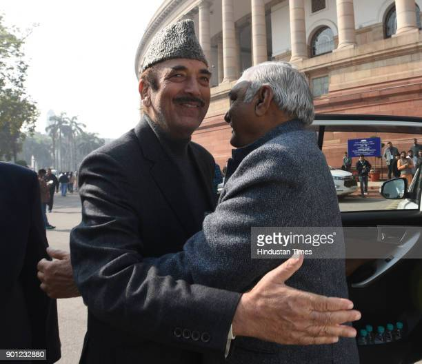 Leader of opposition in Rajya Sabha and Former Chief Minister of Jammu and Kashmir Ghulam Nabi Azad meet with former Chief MInistrer of Haryana...