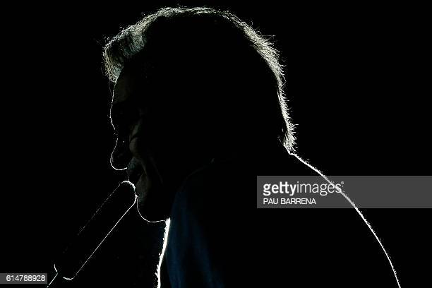 Leader of Partit Democrata Europeu Catala PDECAT and former President of the Catalan regional Government Artur Mas speaks during the ceremony...