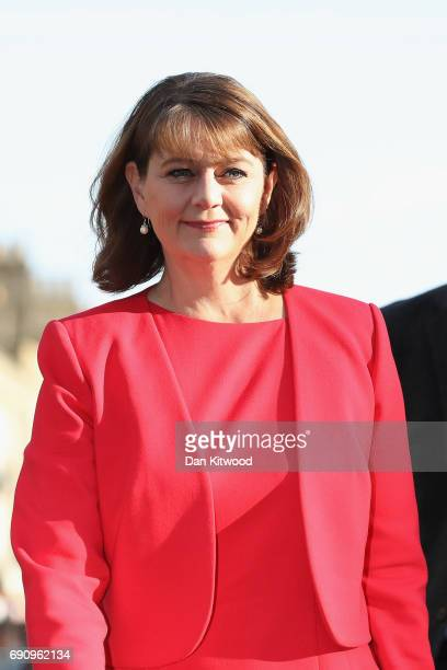 Leader of Plaid Cymru Leanne Wood arrives ahead of the BBC Leader's Debate on May 31 2017 in Cambridge England Six Leaders of the Seven political...