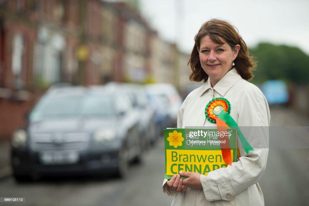 Leanne Wood, leader of Plaid Cymru Campaigns in Porth, South Wales