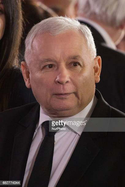 Leader of Polish now ruling conservative 'Law and Justice' party Jaroslaw Kaczynski in Warsaw Poland on 10 March 2017