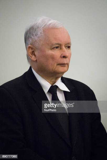 Leader of Polish now ruling 'Law and Justice' party Jaroslaw Kaczynski during the new Polish Government appointment ceremony in Presidential Palace...