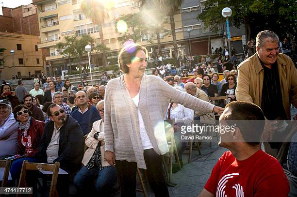 Leader of political party 'Barcelona en Comu' Ada Colau arrives for a Municipal Elections rally on May 22, 2015 in Barcelona, Spain. Spain will hold...