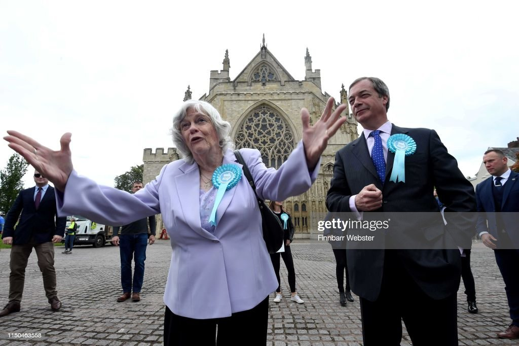 GBR: Nigel Farage Undertakes A Whistle-Stop Tour Of England
