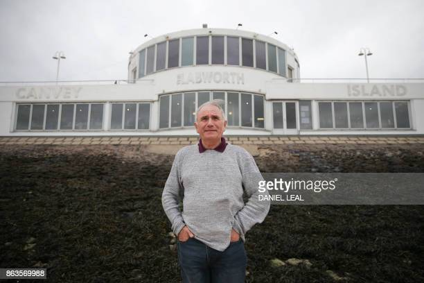 Leader of the Canvey Island Independent Party Dave Blackwell poses outside the Labworth Cafe designed by the engineer Ove Arup and built in the 1930s...