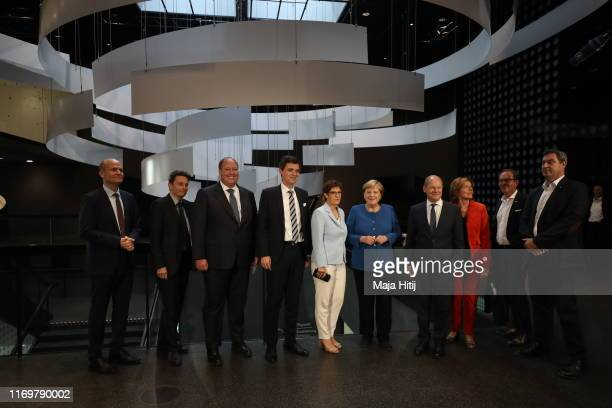Leader of the CDU/CSU Group in the Bundestag Ralph Brinkhaus , Acting chairman of the SPD parliamentary group in the Bundestag Rolf Mützenich , Head...