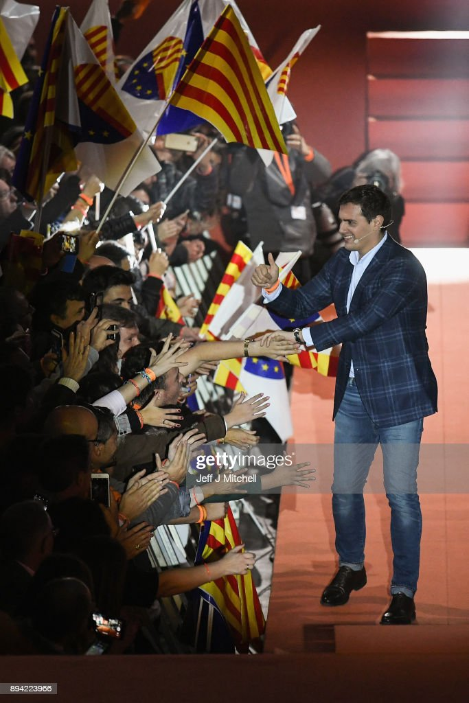 Ciudadanos Hold Campaign Rally In Barcelona