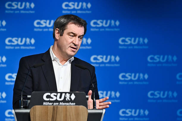 DEU: Markus Soeder Holds Press Conference After Declaring Intention To Become Chancellor