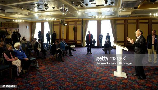 Leader of the Conservatives Michael Howard during his speech in Norwich