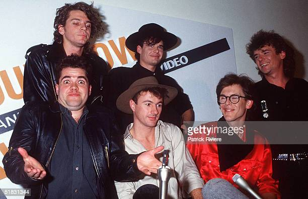 Leader of the group INXS Michael Hutchence and his band at the Countdown Awards 1985 in