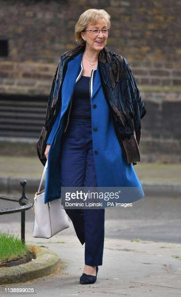 Leader of the House of Commons Andrea Leadsom arrives for a cabinet meeting at 10 Downing Street London on the first day that MPs return from their...