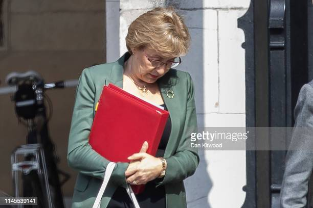 Leader of the House of Commons Andrea Leadsom is seen outside the House of Commons on May 22 2019 in London England Leadsom announced her resignation...