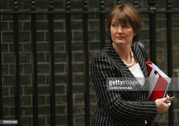 Leader of the House of Commons Harriet Harman departs from Gordon Brown's weekly cabinet meeting at Downing Street on January 29 2008 in London...