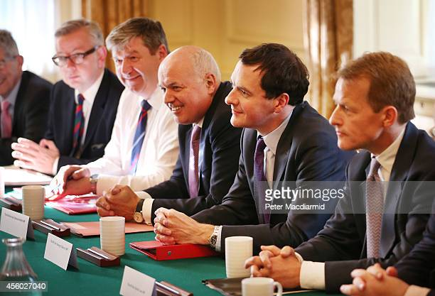 Leader of the House of Commons William Hague chairs the first meeting of the Cabinet Committee on devolution with Don Foster Michael Gove Alistair...
