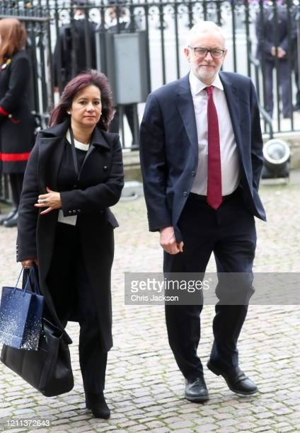 Leader of the Labour Party and Leader of the Opposition Jeremy Corbyn MP attends the Commonwealth Day Service 2020 at Westminster Abbey on March 09...