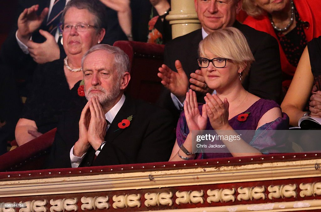 Leader of the Labour Party Jeremy Corbyn at the Royal Albert Hall for the Annual Festival of Remembrance on November 7, 2015 in London, England.