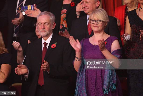 Leader of the Labour Party Jeremy Corbyn at the Royal Albert Hall for the Annual Festival of Remembrance on November 7 2015 in London England