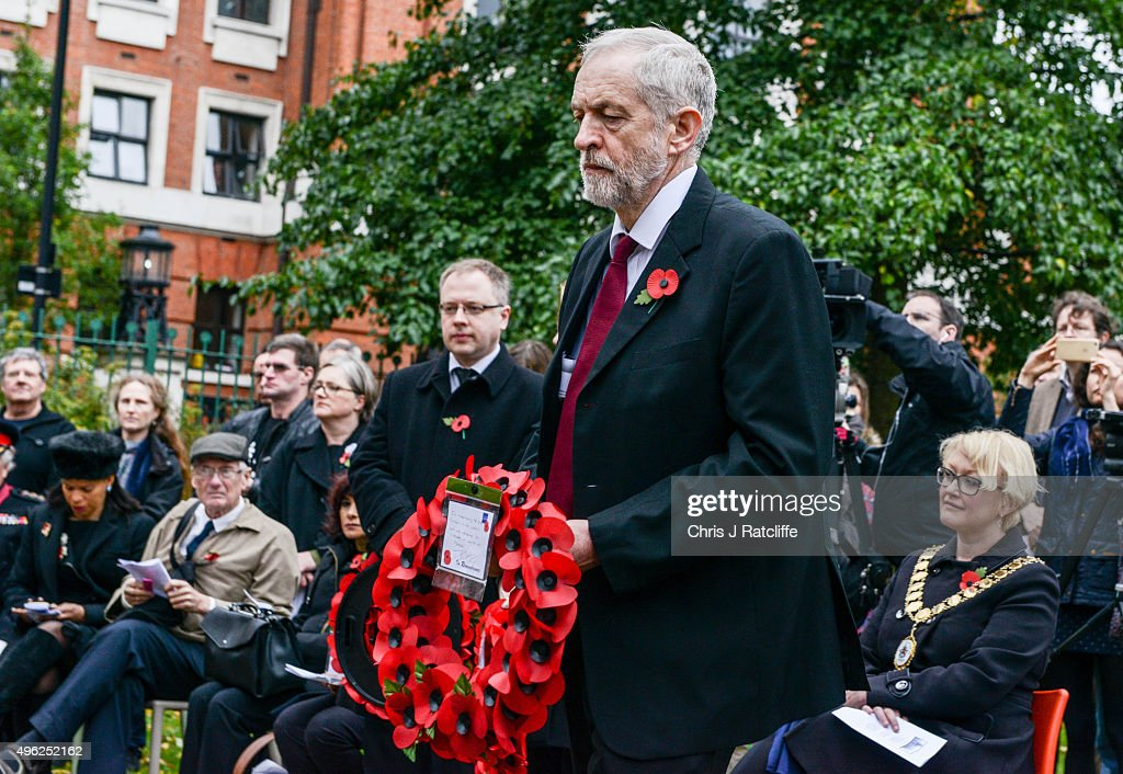 Jeremy Corbyn Observes Remembrance Sunday In His Constituency : News Photo