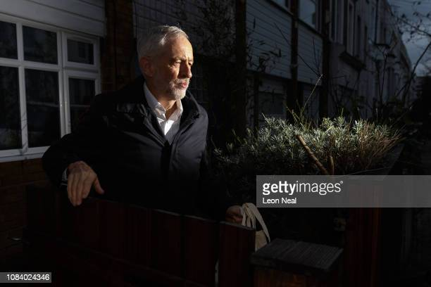 Leader of the Labour Party Jeremy Corbyn leaves his home on December 18 2018 in London England The Government has dismissed a motion of no confidence...
