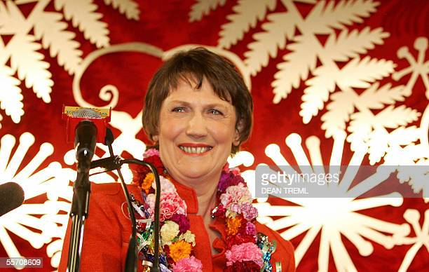 Leader of the Labour Party, New Zealand Prime Minister Helen Clark at the Labour party election headquarters in Auckland, 17 September 2005. Clark...