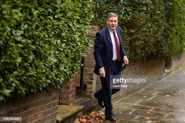 Leader of the Labour Party Sir Keir Starmer leaves his home on October 29 2020 in London England The longawaited report from the Equality and Human...