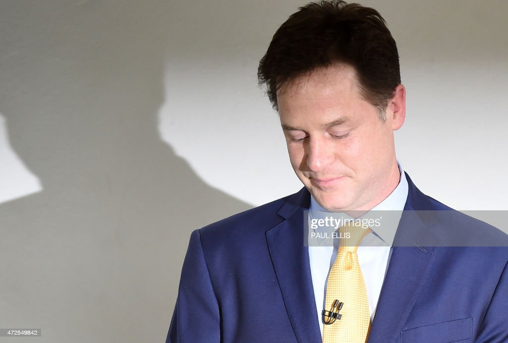 BRITAIN-VOTE-CLEGG : News Photo