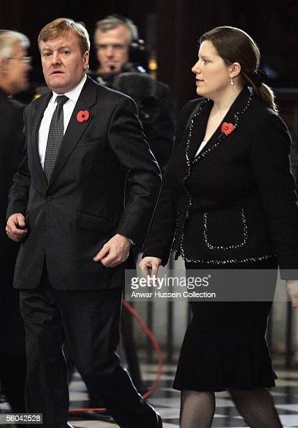 Leader of the Liberal Democrats Charles Kennedy and his wife Sarah attend the National Memorial Service dedicated to victims of the 7 July bombings...