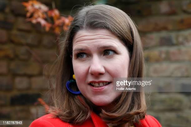 Leader of the Liberal Democrats Jo Swinson at Razumovsky Academy in Kensal Green on November 16 2019 in London England The Lib Dem leader is...