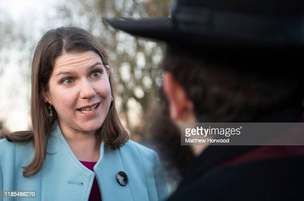 Leader of the Liberal Democrats Jo Swinson meets with senior representatives and members of the Muslim and Jewish communities at Cardiff United...