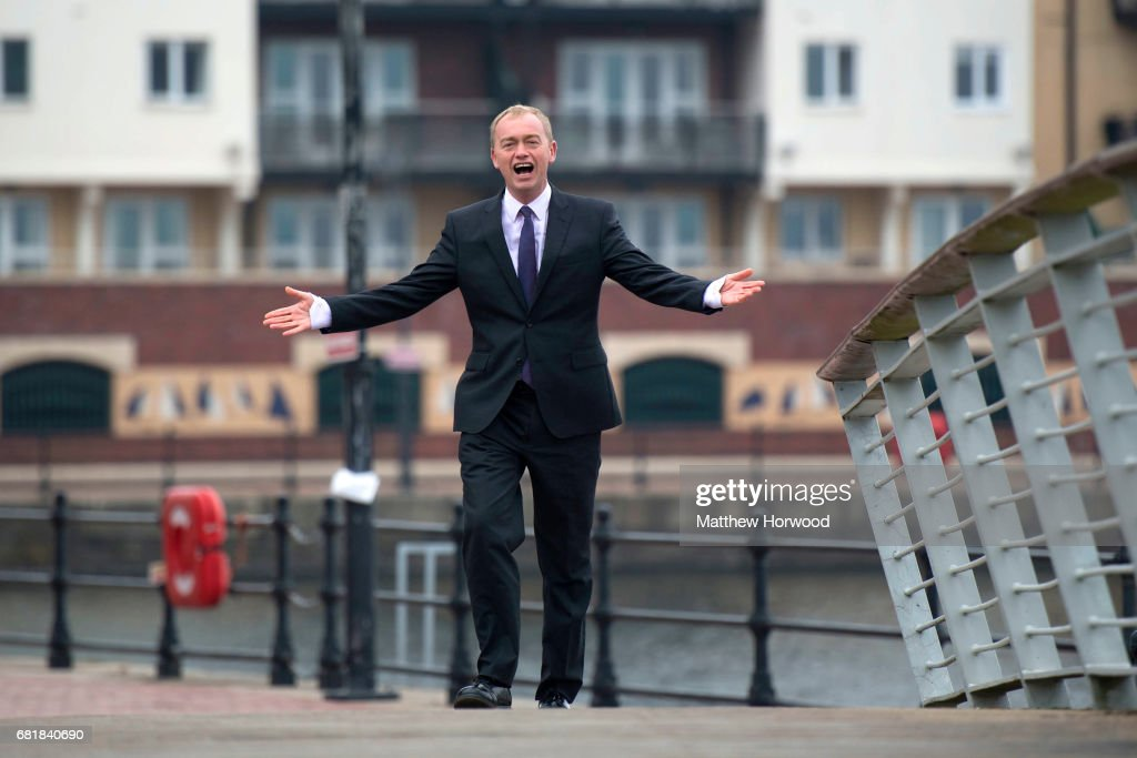 Tim Farron Campaigns With The Welsh Liberal Democrats