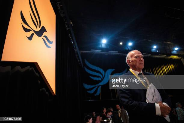 Leader of the Liberal Democrats Vince Cable attends the Liberal Democrat Party Conference at the Brighton Centre on September 17 2018 in Brighton...