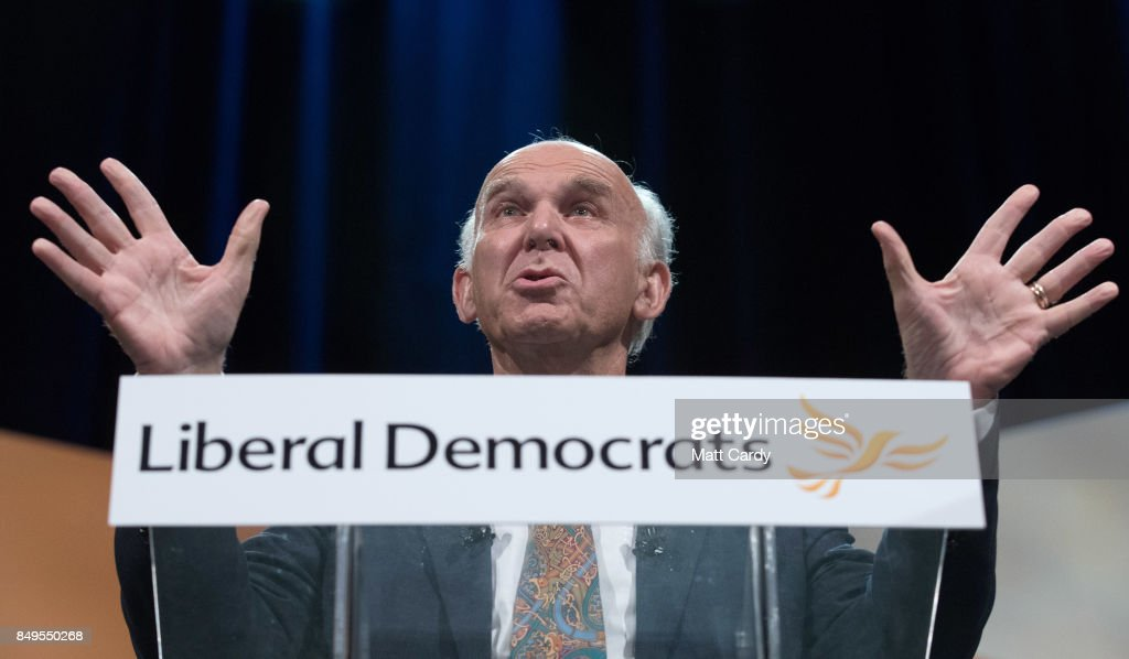 Liberal Democrat Leader Sir Vince Cable Speaks At Their Autumn Conference