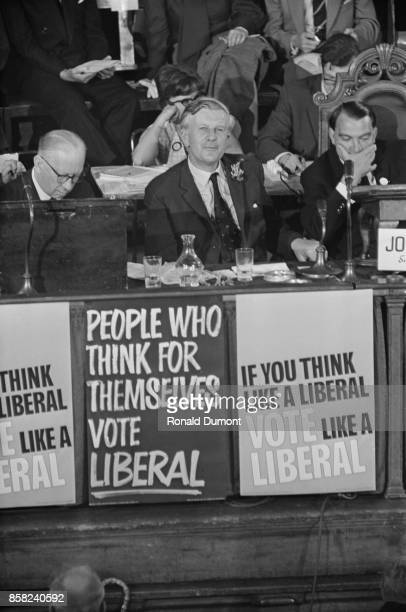 Leader of the Liberal Party Jo Grimond at the Liberal Party Conference UK 5th September 1964