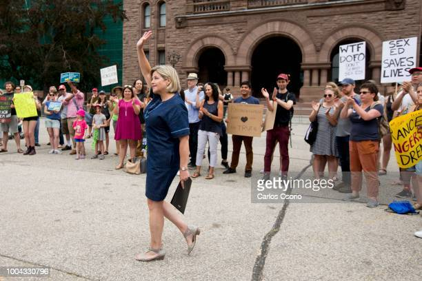 Leader of the official opposition Andrea Horwath spoke at the rally Students and their supporters held a rally at Queen's Park to protest the...