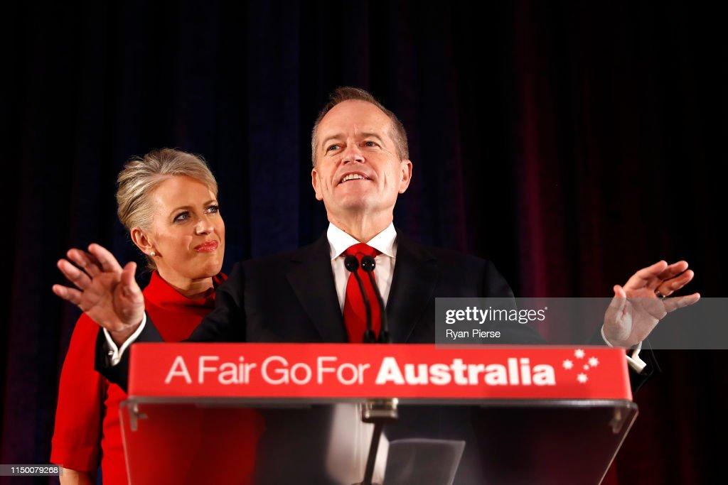 AUS: Bill Shorten Concedes Defeat In 2019 Australian Federal Election