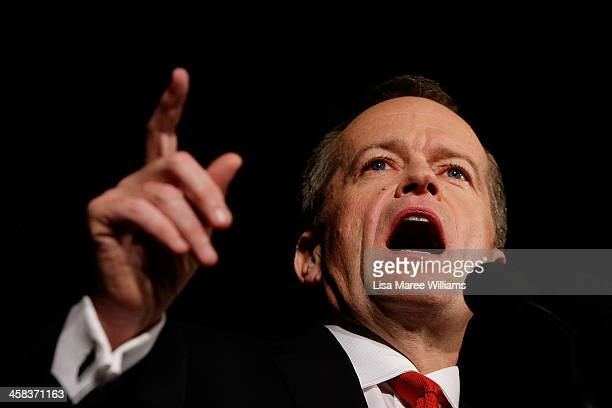 Leader of the Opposition Australian Labor Party Bill Shorten greets Labor party supporters at Moonee Valley Racing Club on July 2 2016 in Melbourne...