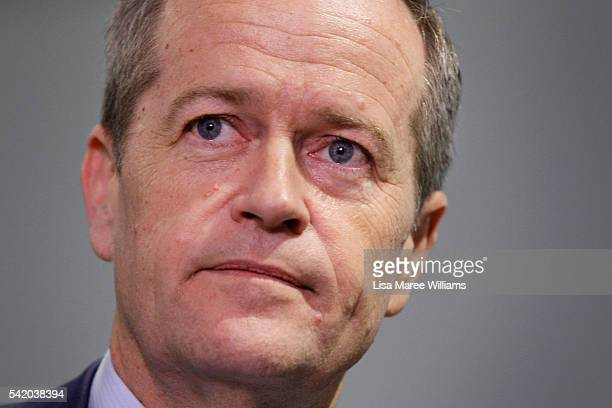 Leader of the Opposition Australian Labor Party Bill Shorten speaks with the media at Victoria Tower Medical Centre in Burwood on June 22 2016 in...