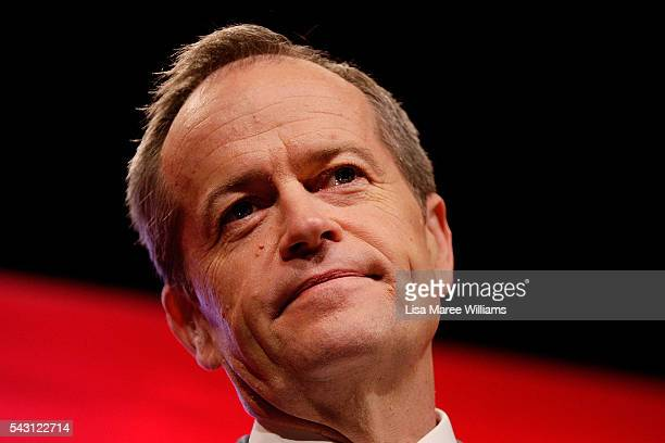Leader of the Opposition Australian Labor Party Bill Shorten addresses the audience during the Queensland Labor Campaign Launch at the Brisbane...