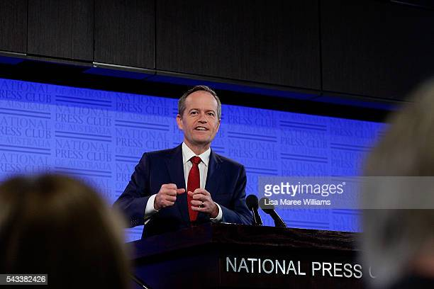 Leader of the Opposition, Australian Labor Party Bill Shorten addresses the National Press Club on June 28, 2016 in Canberra, Australia. Bill Shorten...