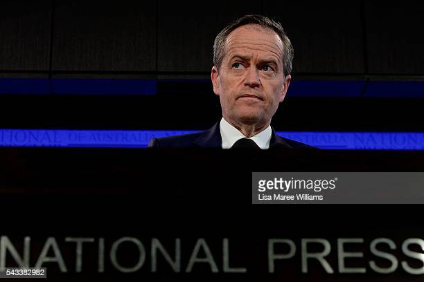 Leader of the Opposition Australian Labor Party Bill Shorten addresses the National Press Club on June 28 2016 in Canberra Australia Bill Shorten...