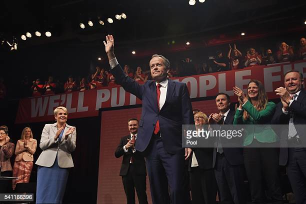 Leader of the Opposition Bill Shorten arrives at the Labor campaign launch at the Joan Sutherland Performing Arts Centre as part of the 2016 election...