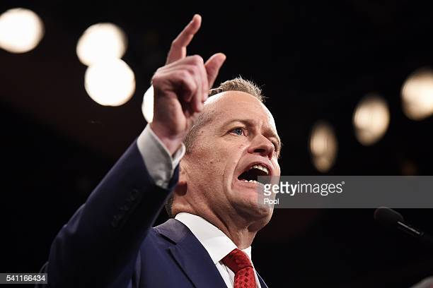 Leader of the Opposition Bill Shorten at the Labor campaign launch at the Joan Sutherland Performing Arts Centre as part of the 2016 election...
